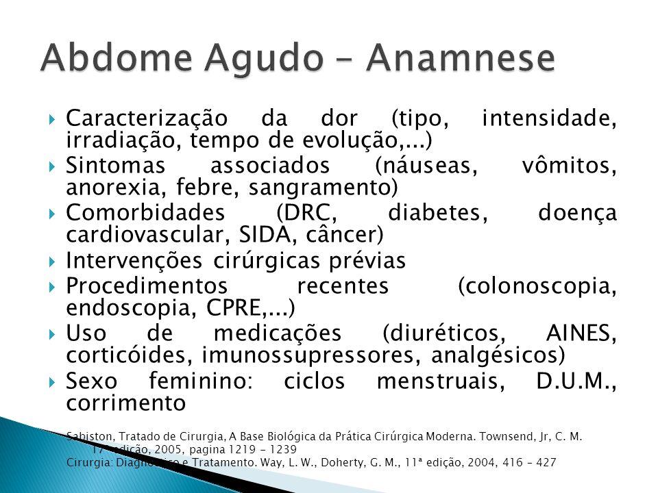 Abdome Agudo – Anamnese