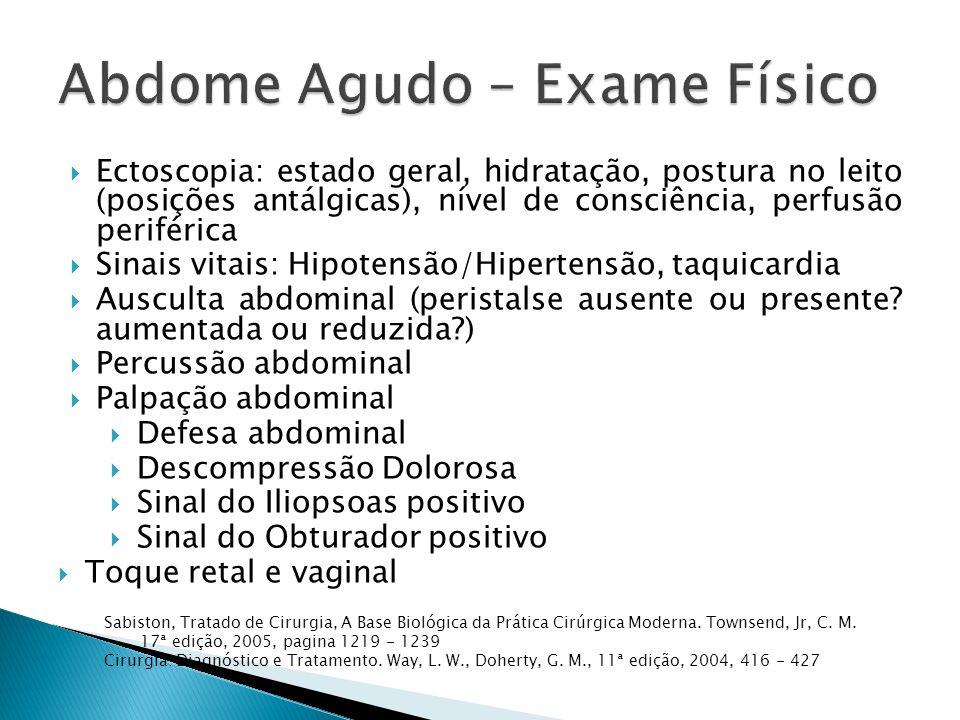 Abdome Agudo – Exame Físico