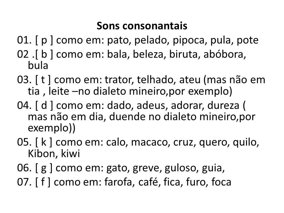 Sons consonantais 01.