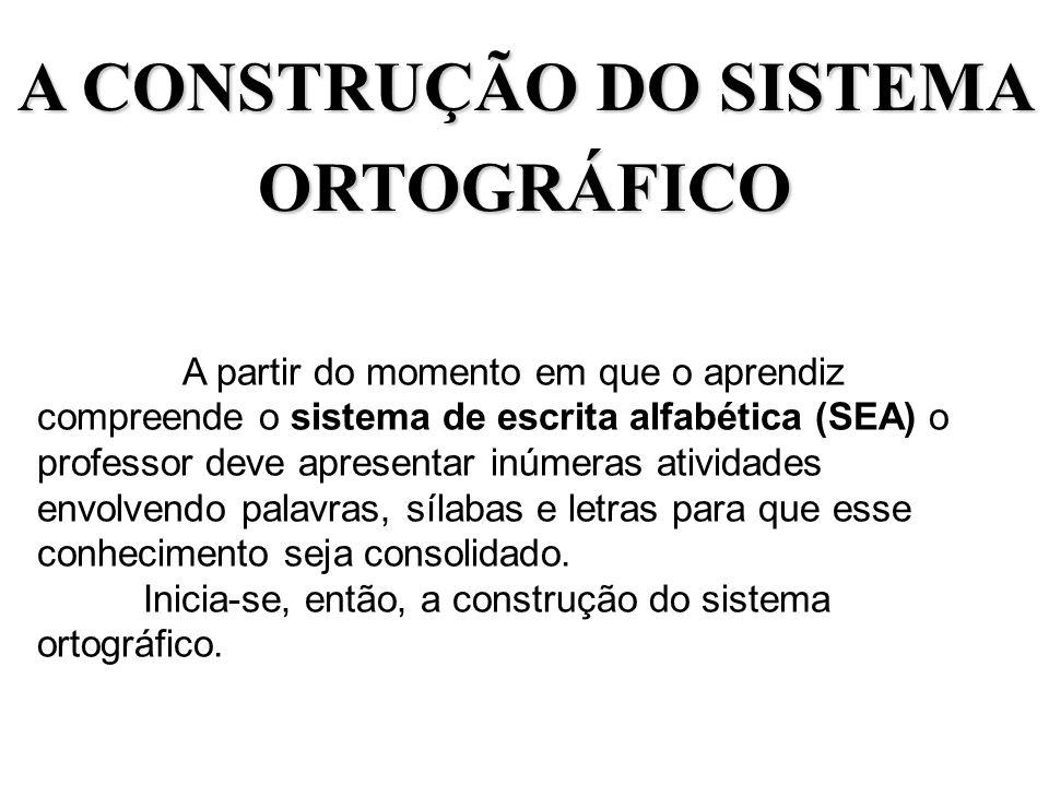 A CONSTRUÇÃO DO SISTEMA ORTOGRÁFICO