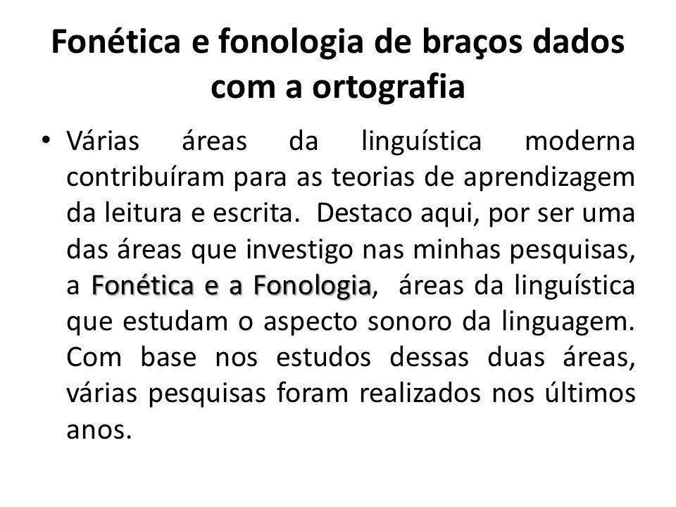 Fonética e fonologia de braços dados com a ortografia
