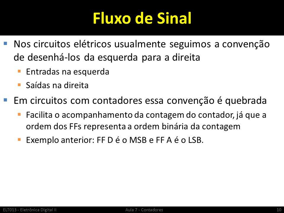 Fluxo de Sinal Nos circuitos elétricos usualmente seguimos a convenção de desenhá-los da esquerda para a direita.