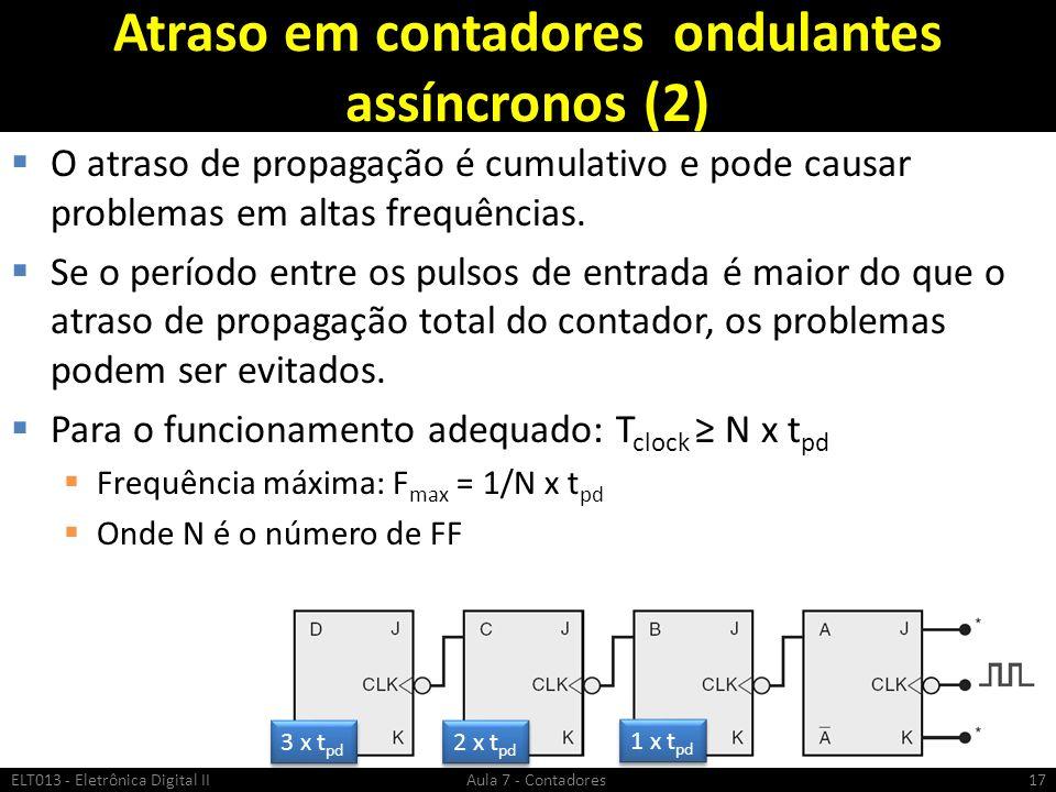 Atraso em contadores ondulantes assíncronos (2)