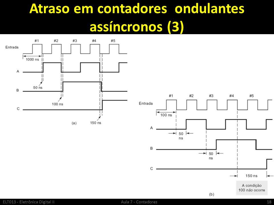 Atraso em contadores ondulantes assíncronos (3)