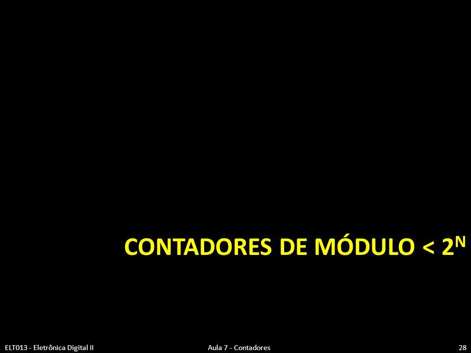 Contadores de Módulo < 2N