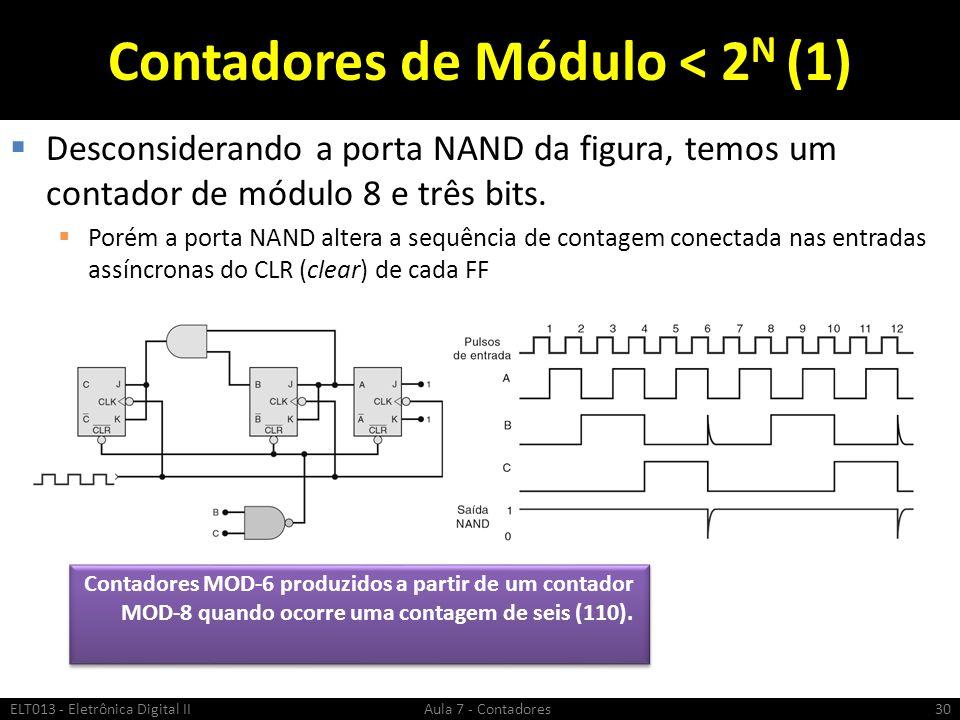 Contadores de Módulo < 2N (1)