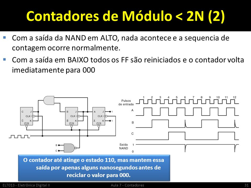 Contadores de Módulo < 2N (2)
