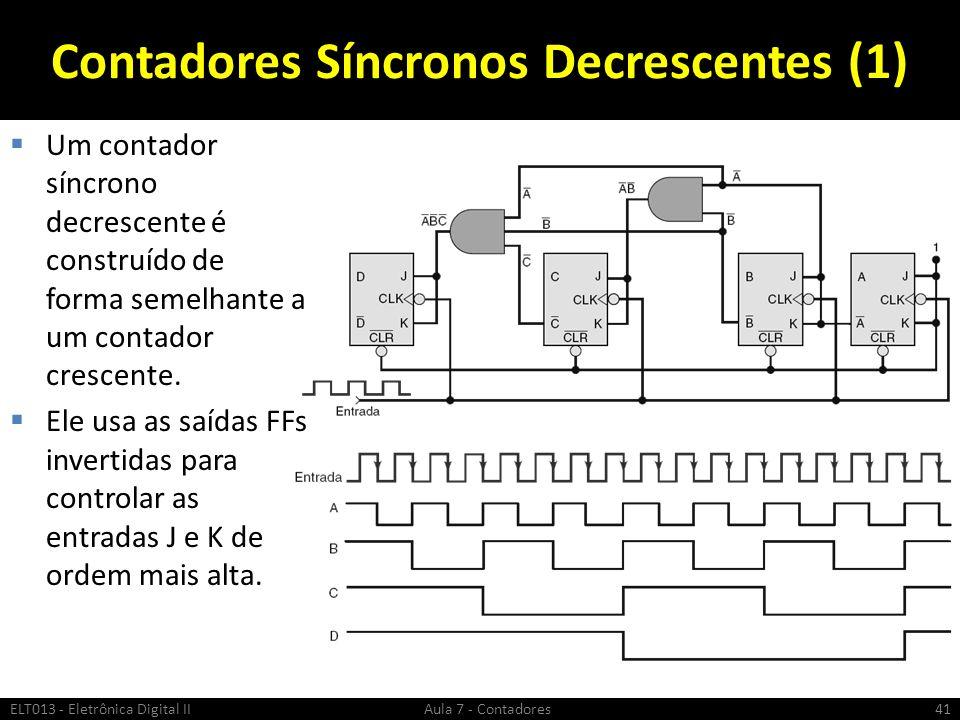 Contadores Síncronos Decrescentes (1)
