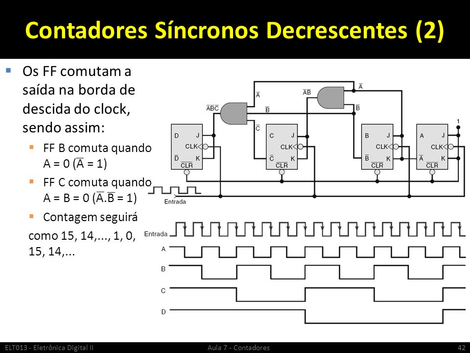 Contadores Síncronos Decrescentes (2)