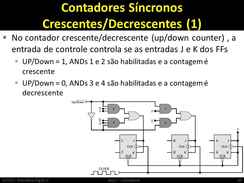 Contadores Síncronos Crescentes/Decrescentes (1)