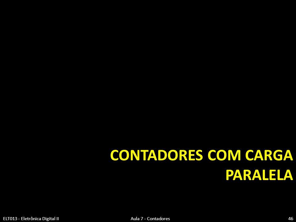 Contadores com Carga Paralela