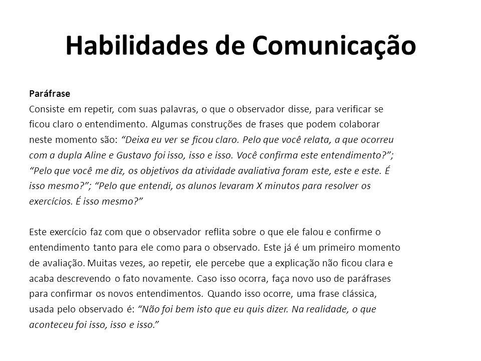Habilidades de Comunicação