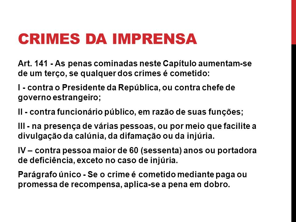 Crimes da imprensa