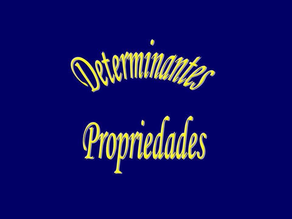 Determinantes Propriedades