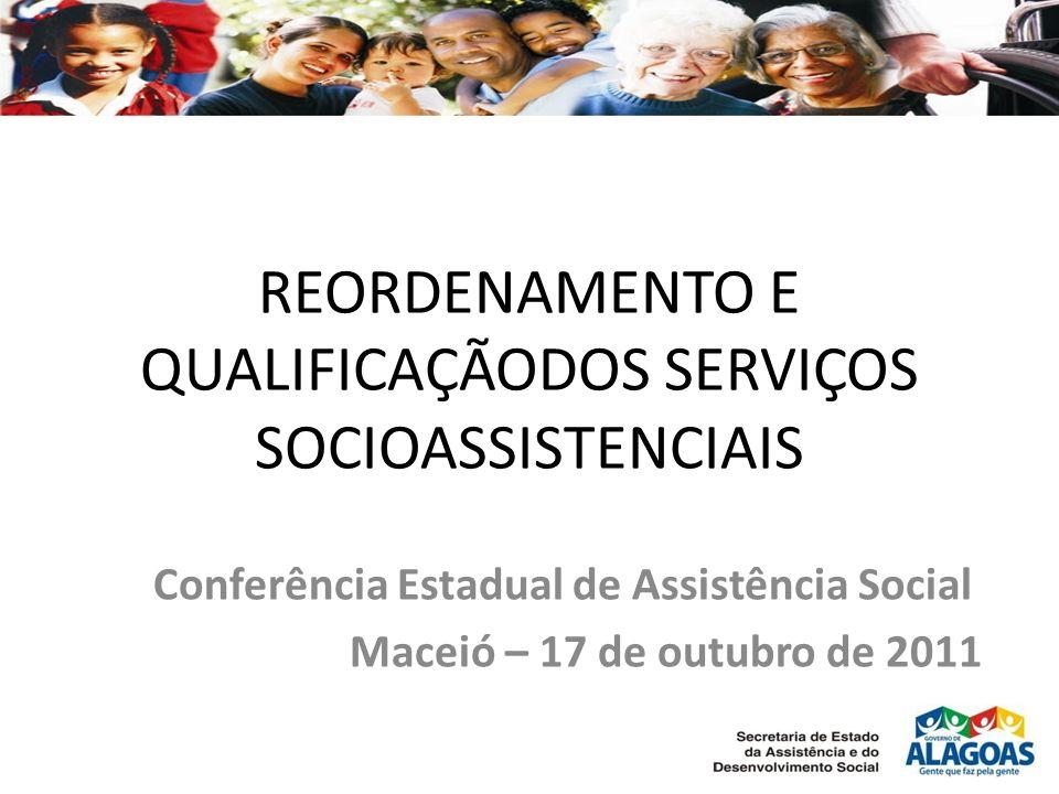 REORDENAMENTO E QUALIFICAÇÃODOS SERVIÇOS SOCIOASSISTENCIAIS