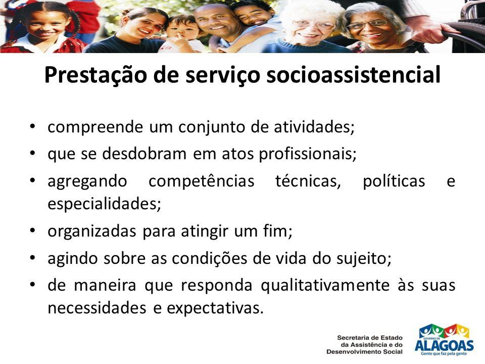 Prestação de serviço socioassistencial