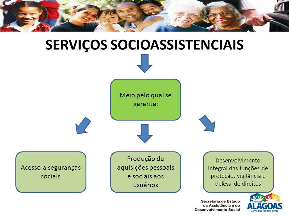 SERVIÇOS SOCIOASSISTENCIAIS