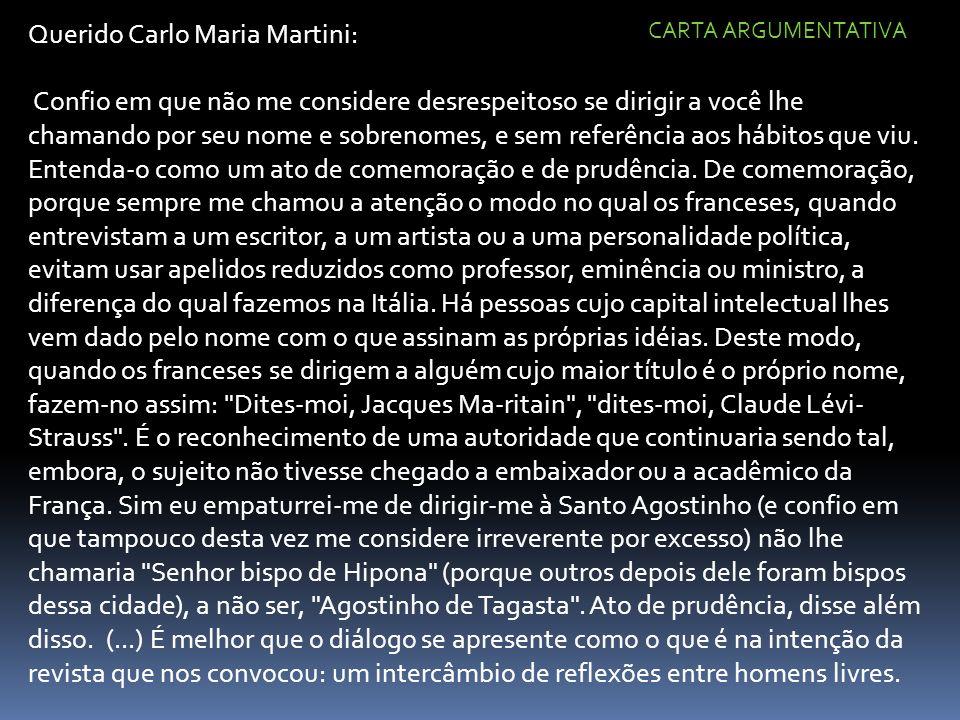 Querido Carlo Maria Martini: