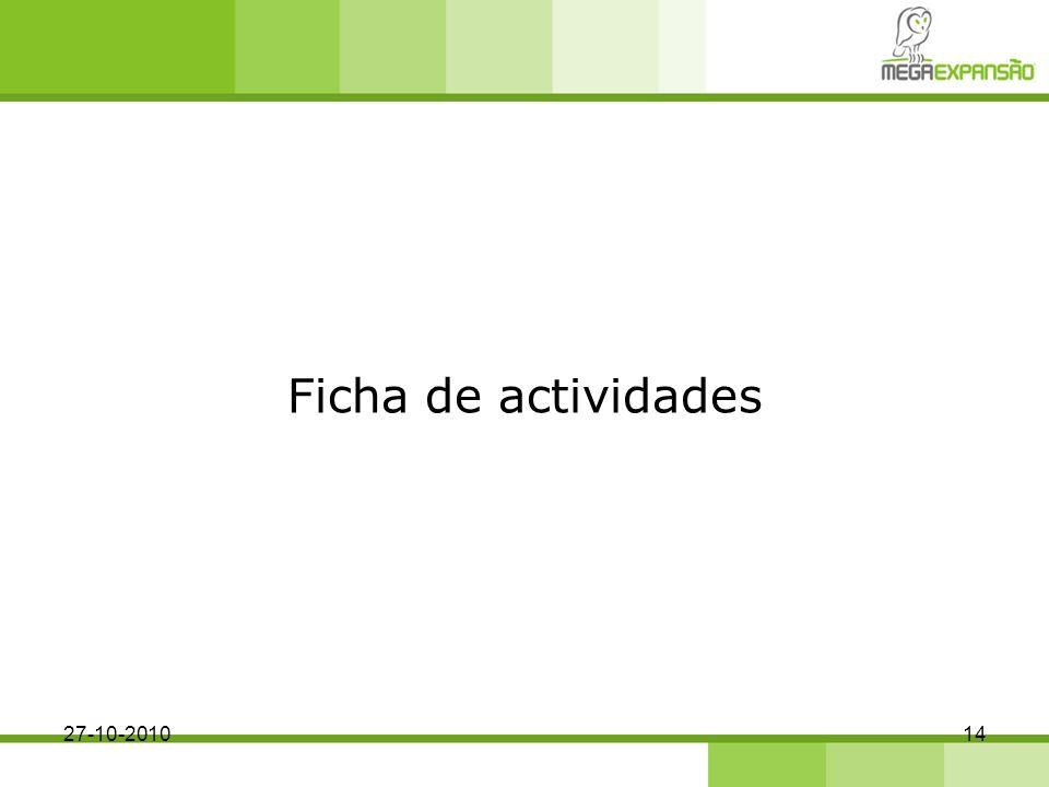 Ficha de actividades 27-10-2010