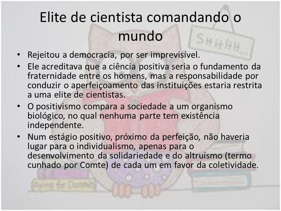 Elite de cientista comandando o mundo