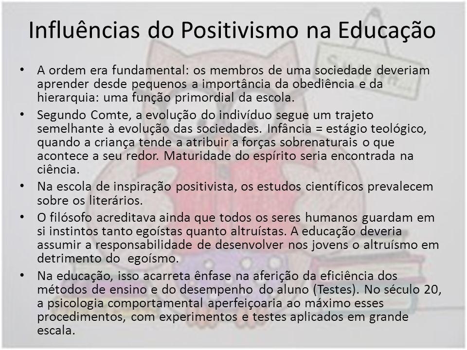 Influências do Positivismo na Educação