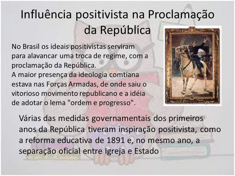 Influência positivista na Proclamação da República