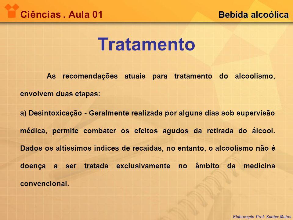 Tratamento Ciências . Aula 01 Bebida alcoólica