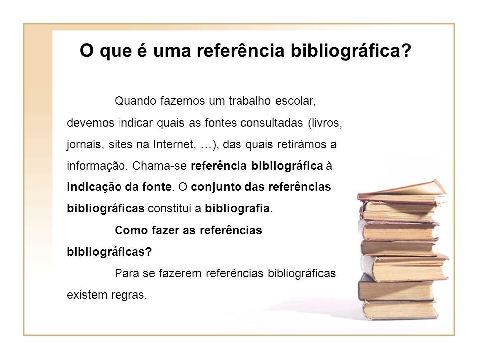 O que é uma referência bibliográfica