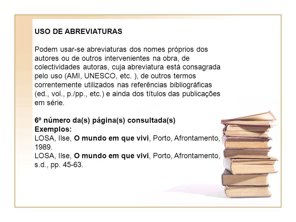USO DE ABREVIATURAS