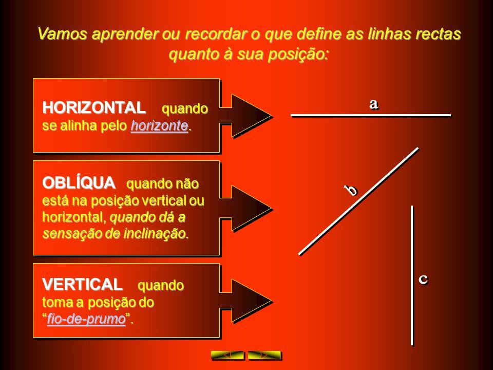 Vamos aprender ou recordar o que define as linhas rectas quanto à sua posição: