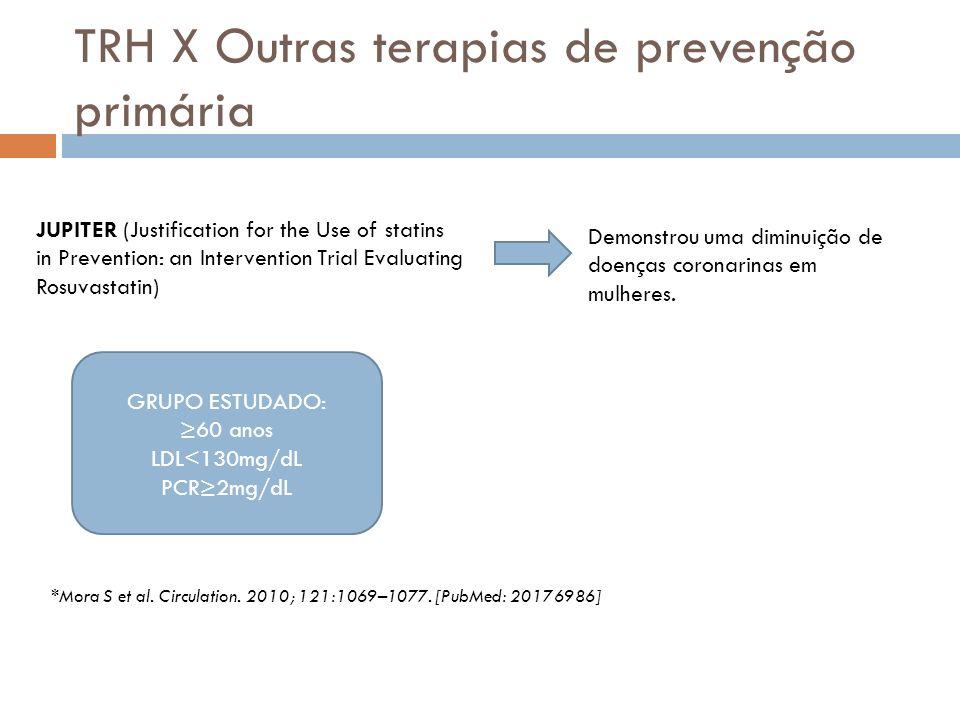 TRH X Outras terapias de prevenção primária