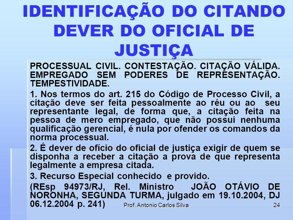 IDENTIFICAÇÃO DO CITANDO DEVER DO OFICIAL DE JUSTIÇA