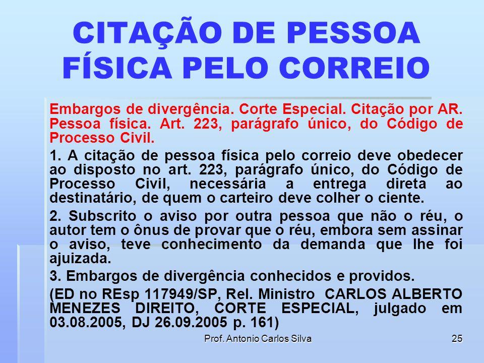 CITAÇÃO DE PESSOA FÍSICA PELO CORREIO