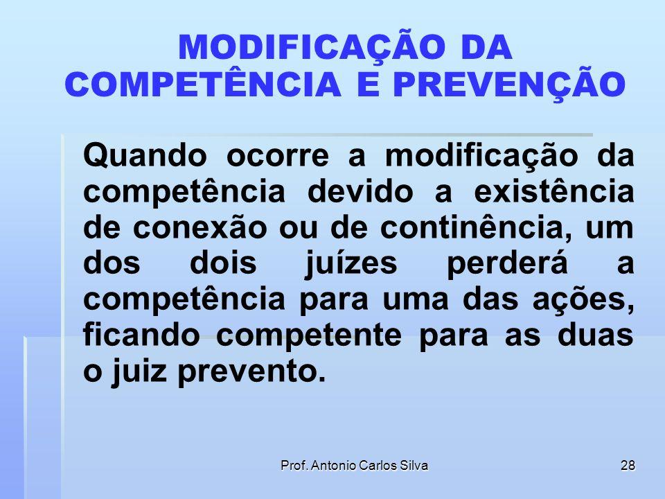 MODIFICAÇÃO DA COMPETÊNCIA E PREVENÇÃO