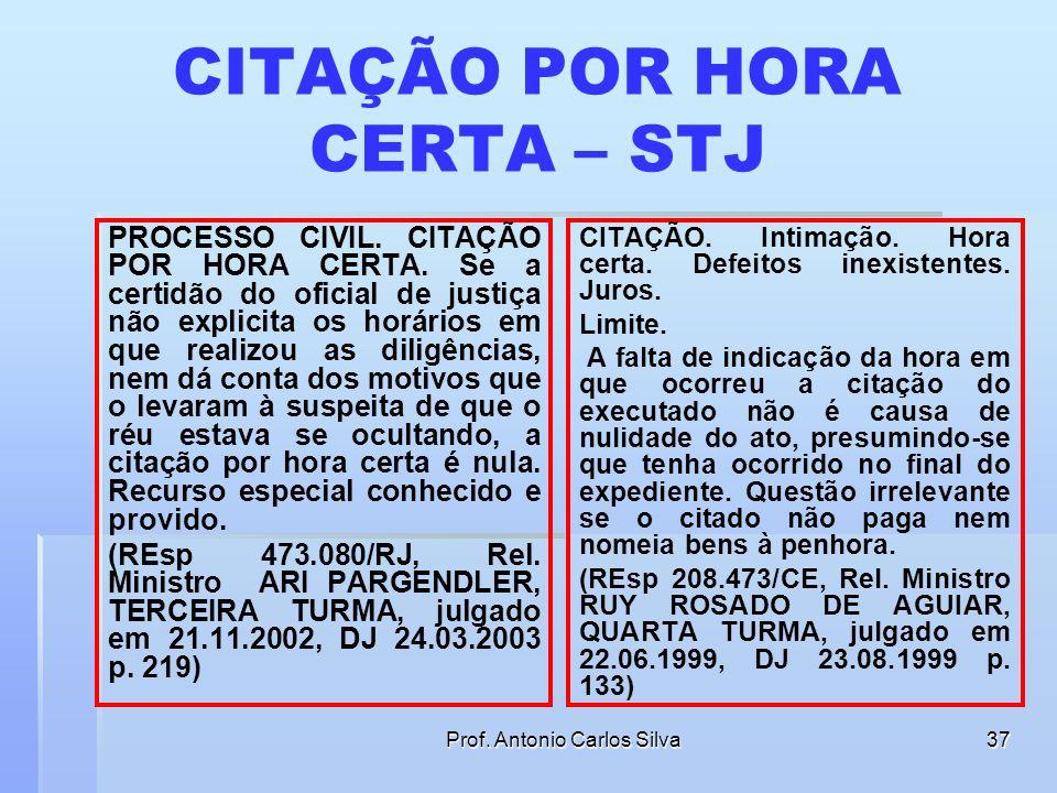 CITAÇÃO POR HORA CERTA – STJ