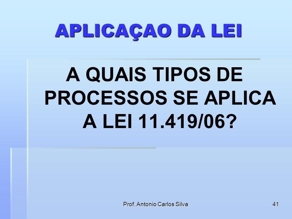 A QUAIS TIPOS DE PROCESSOS SE APLICA A LEI 11.419/06