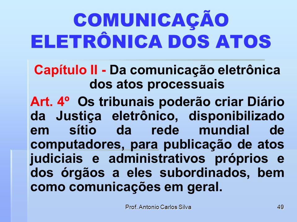 COMUNICAÇÃO ELETRÔNICA DOS ATOS