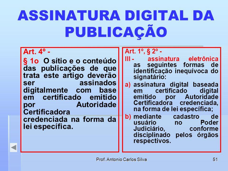 ASSINATURA DIGITAL DA PUBLICAÇÃO