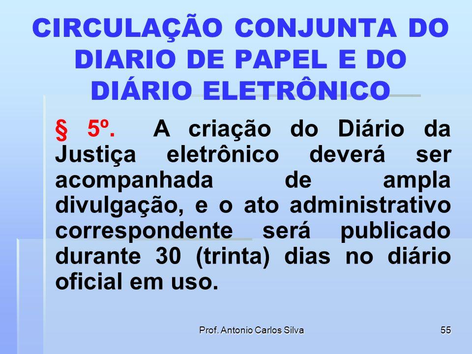 CIRCULAÇÃO CONJUNTA DO DIARIO DE PAPEL E DO DIÁRIO ELETRÔNICO