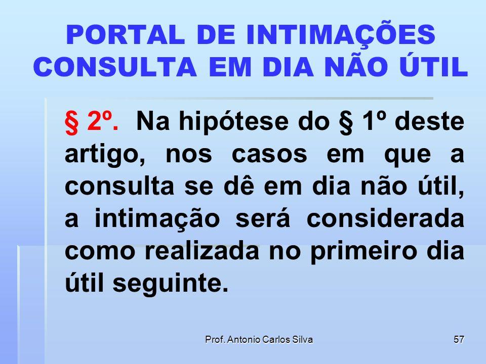 PORTAL DE INTIMAÇÕES CONSULTA EM DIA NÃO ÚTIL