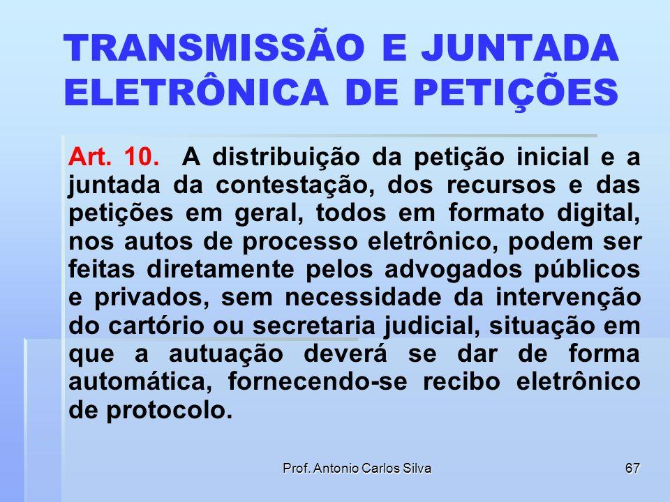 TRANSMISSÃO E JUNTADA ELETRÔNICA DE PETIÇÕES