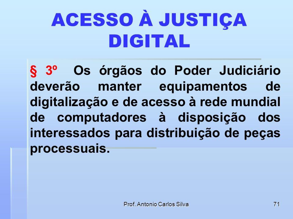ACESSO À JUSTIÇA DIGITAL