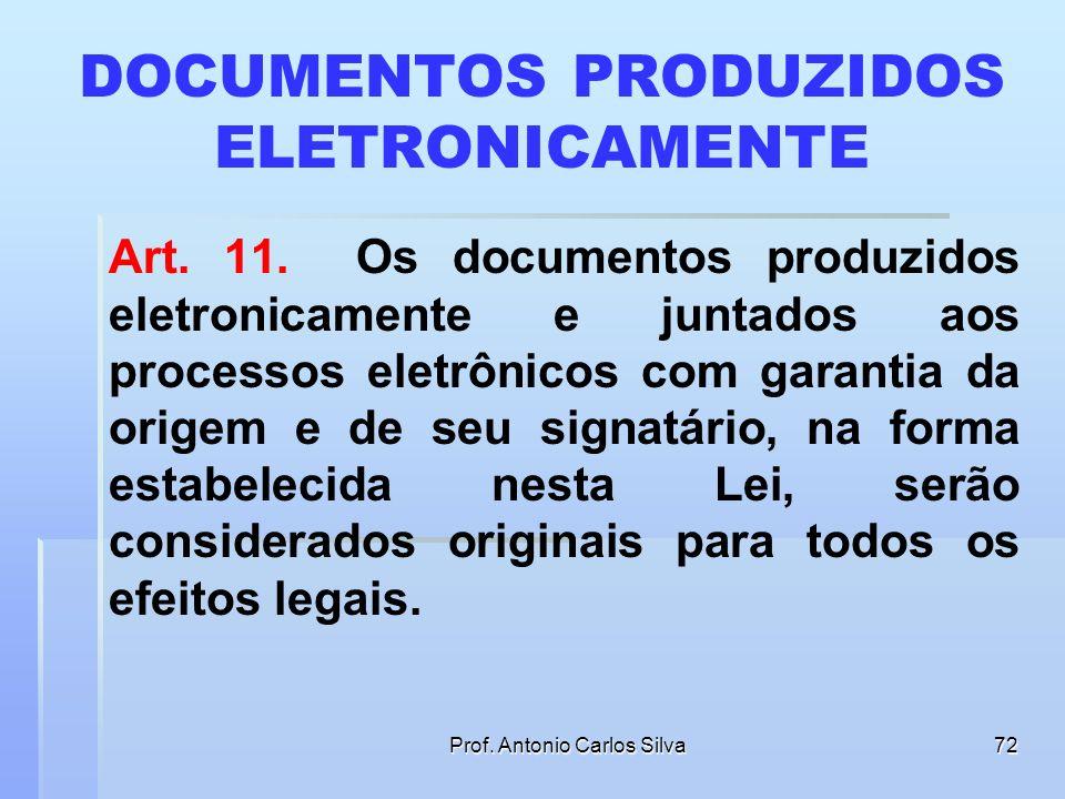 DOCUMENTOS PRODUZIDOS ELETRONICAMENTE
