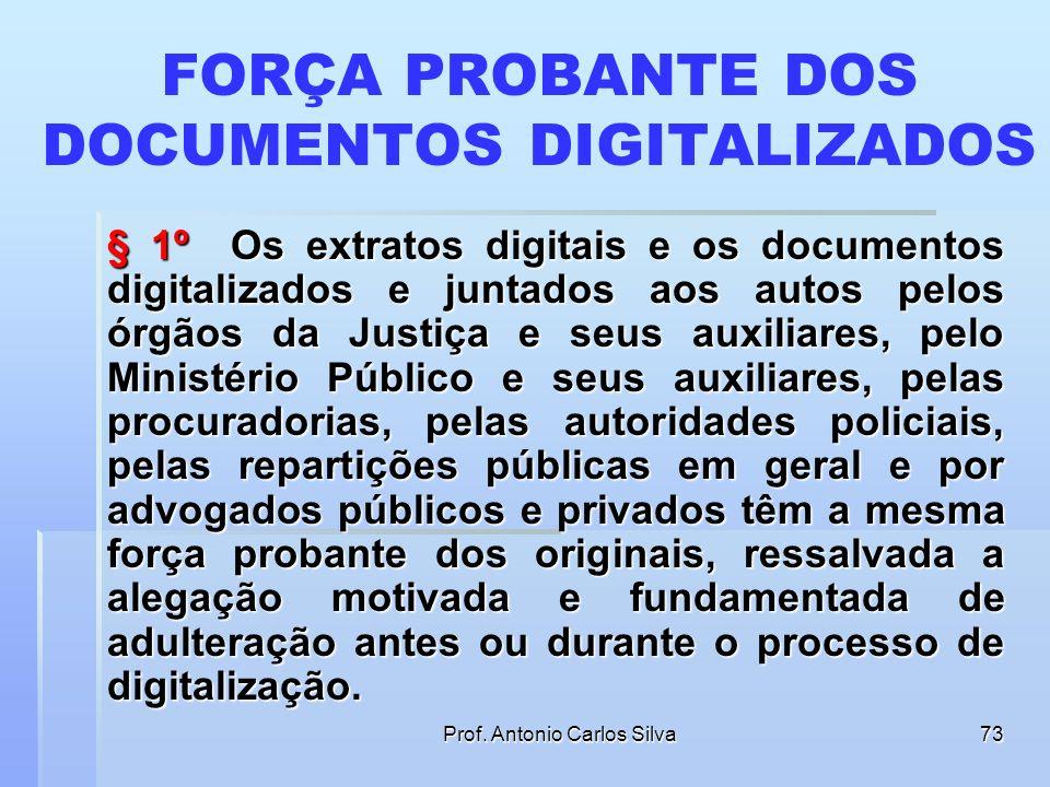 FORÇA PROBANTE DOS DOCUMENTOS DIGITALIZADOS