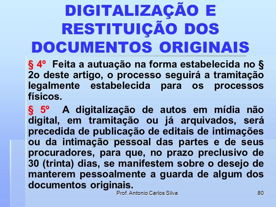 DIGITALIZAÇÃO E RESTITUIÇÃO DOS DOCUMENTOS ORIGINAIS