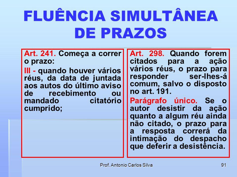 FLUÊNCIA SIMULTÂNEA DE PRAZOS