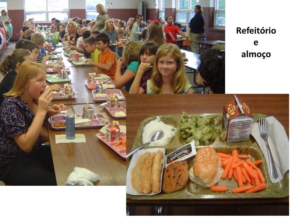 Refeitório e almoço