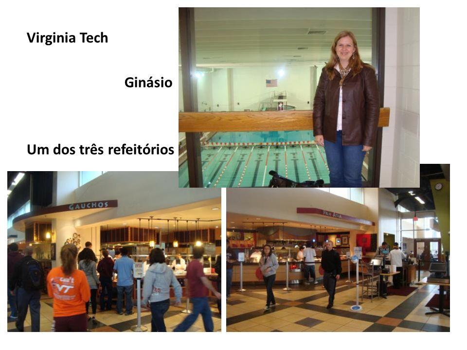 Virginia Tech Ginásio Um dos três refeitórios