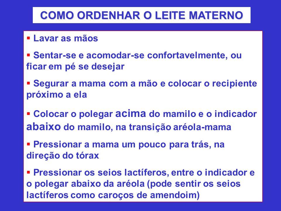 COMO ORDENHAR O LEITE MATERNO