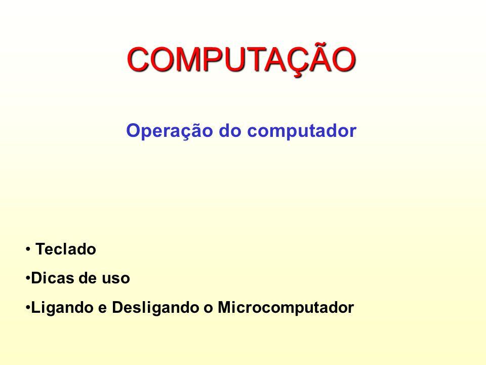 Operação do computador